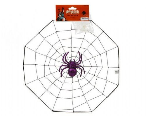 Spider and Spiderweb Decoration Halloween Bug Trick Or Treat